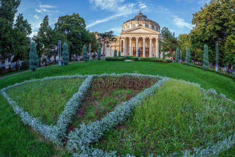 Athenaeum roumain, Bucarest, Roumanie image libre de droits