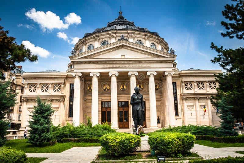 Athenaeum rumeno, sala da concerto nel centro di Bucarest fotografie stock libere da diritti