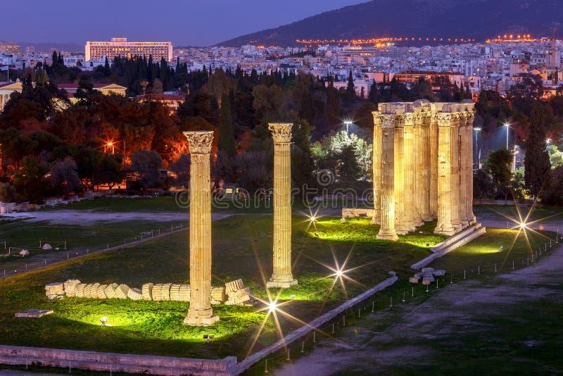 athene Висок Зевса стоковое фото