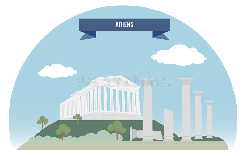 Athene royalty-vrije illustratie