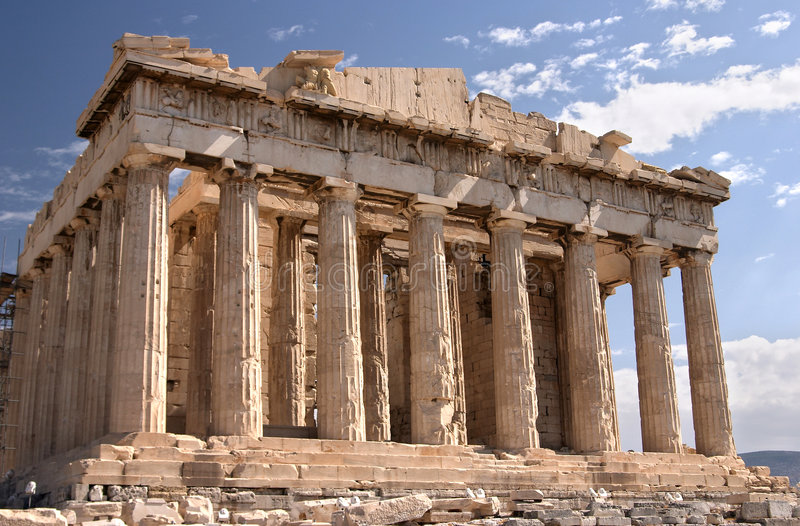 Athene, Akropolis royalty-vrije stock foto