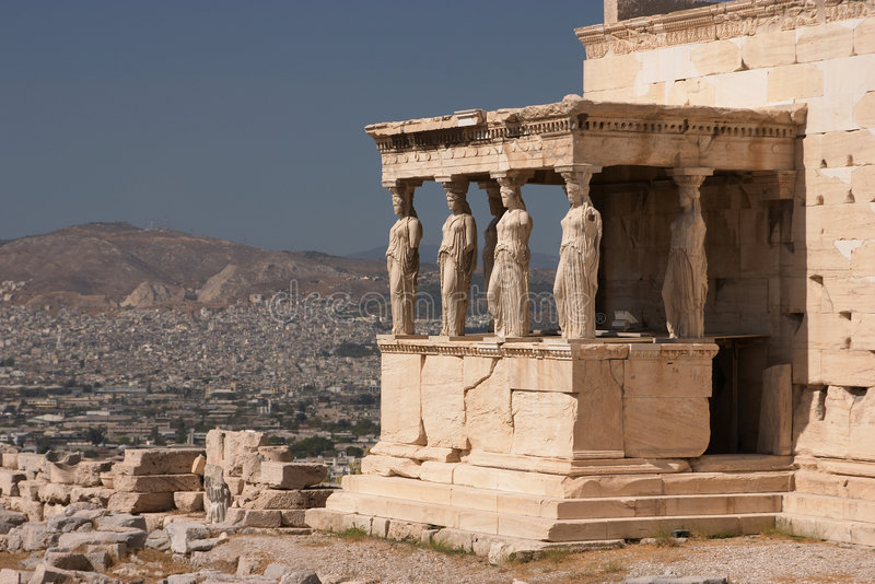 Athene, Akropolis royalty-vrije stock fotografie