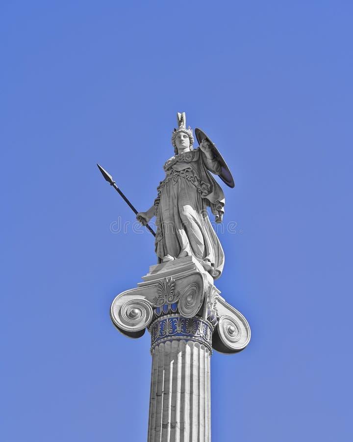 Athene die altgriechische Göttinstatue lizenzfreies stockbild