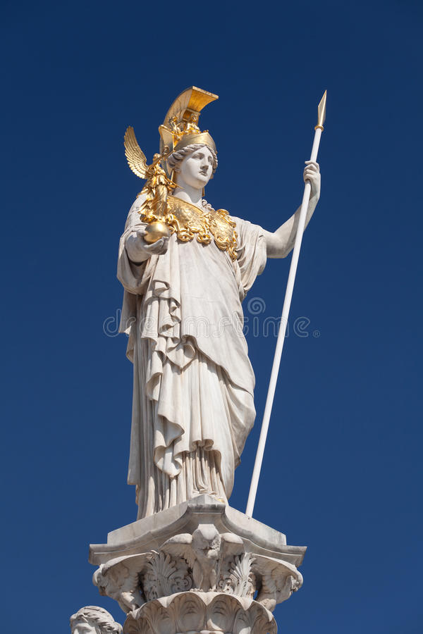 Athene, Göttin der griechischen Mythologie stockfotos