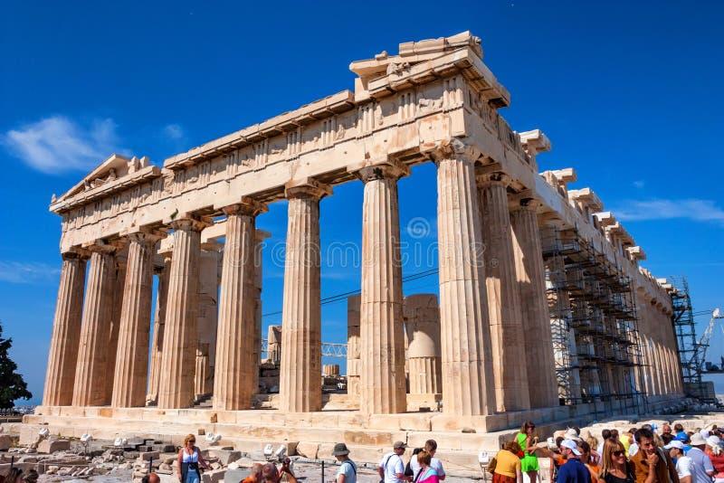 ATHENE, GRIEKENLAND - JUNI, 2011: Parthenonruïnes royalty-vrije stock afbeeldingen