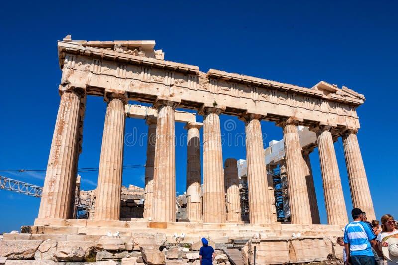 ATHENE, GRIEKENLAND - JUNI, 2011: Parthenonruïnes royalty-vrije stock foto