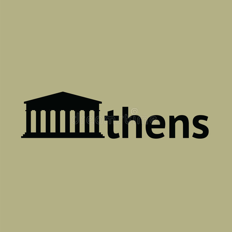 Athene - Parthenon vector illustratie