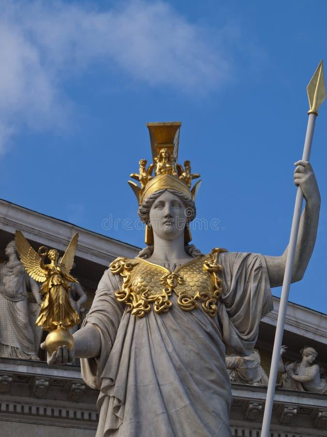 Athene-Statue lizenzfreie stockfotografie