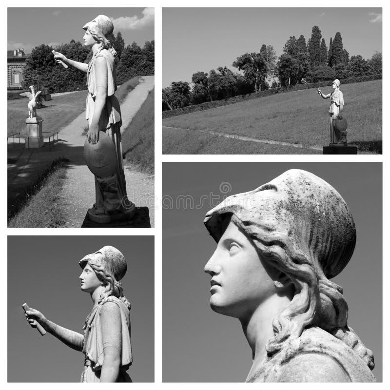Athene-Statue lizenzfreie stockbilder