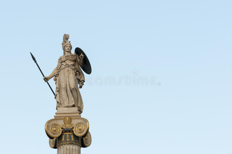 Athene-Statue right_space stockfotos