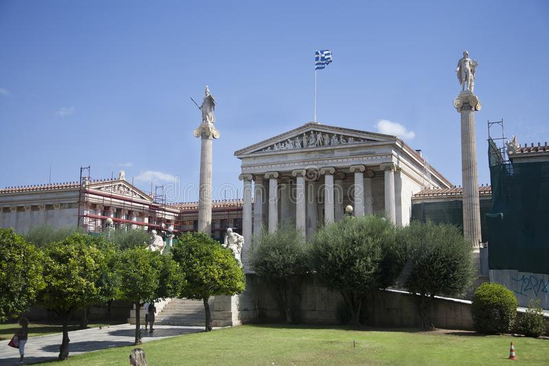Athene und Apollo Museum stockfoto