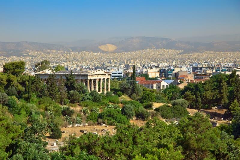 Athene van Akropolis stock afbeelding