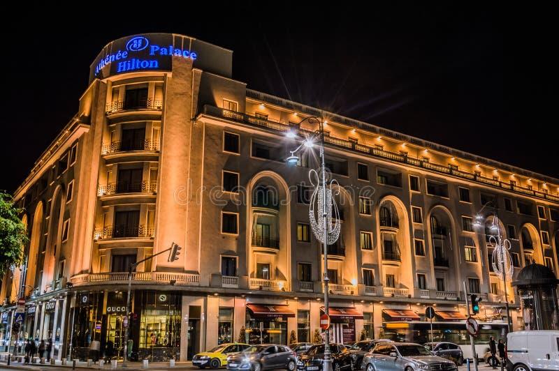 Athenee pałac Hilton, Bucharest zdjęcia stock