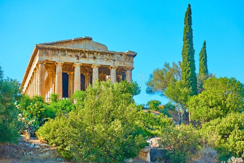 athens świątyni hephaestus obraz royalty free