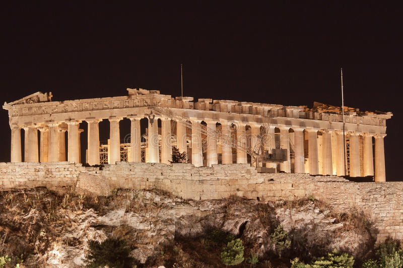Download Athens Acropolis stock photo. Image of night, construction - 23186580