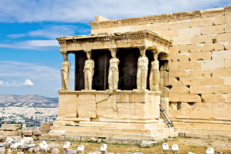Athens Acropolis, The Erechtheum royalty free stock photography