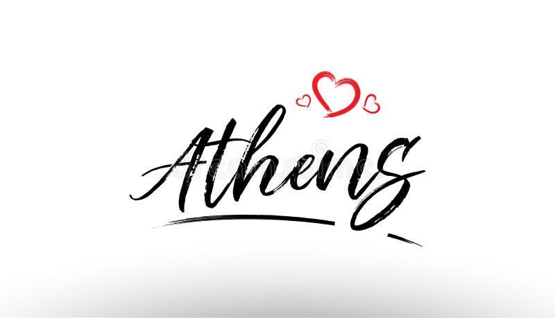 athens Europe miasta imienia europejskiej miłości turystyki loga kierowa ikona de royalty ilustracja
