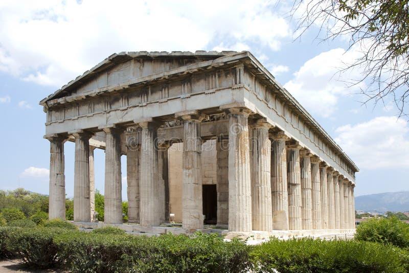 athens grece hephaestus świątynia zdjęcie stock