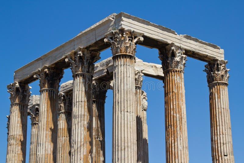 athens Greece świątyni zeus zdjęcia royalty free