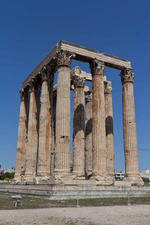 athens Greece świątyni zeus zdjęcia stock
