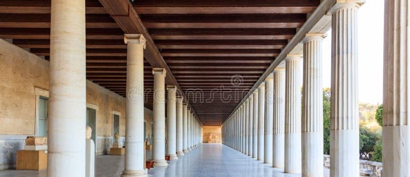 Athens, Greece. Ancient Agora, Attalus stoa stock photography