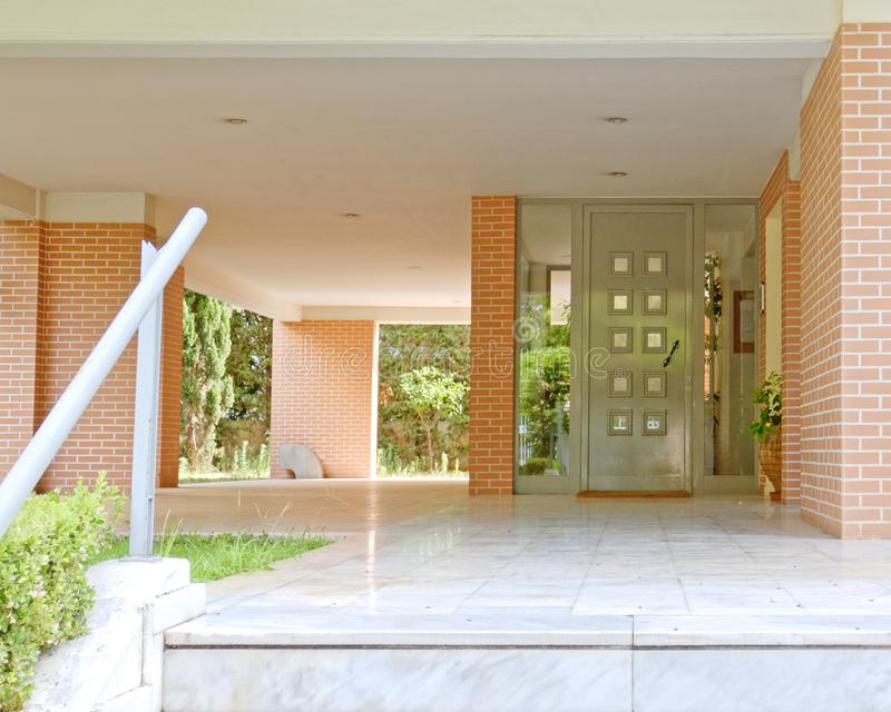 Athens Greece, contemporary house entrance royalty free stock images