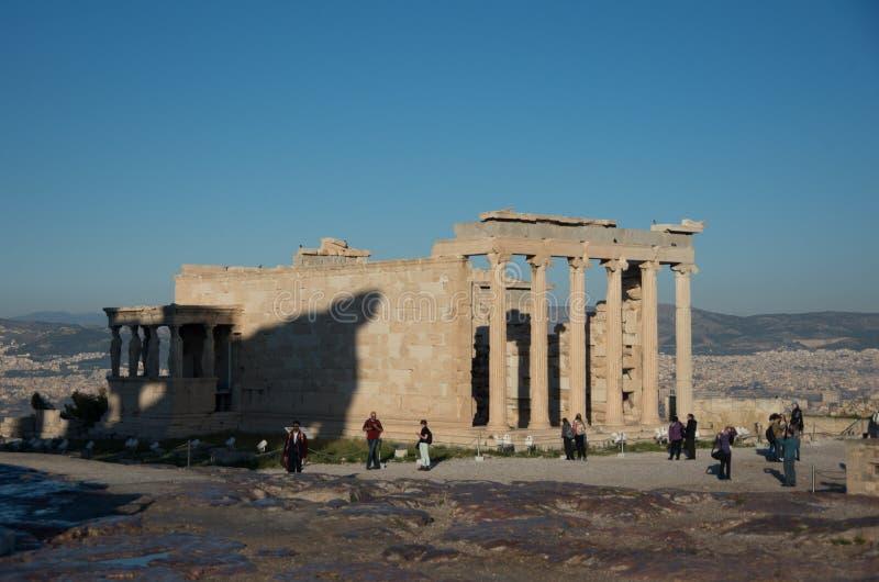 Erechtheion or Erechtheum, A Greek temple dedicated to both Athena and Poseidon. Acropolis of Athens. UNESCO World Hetiage site. stock photos
