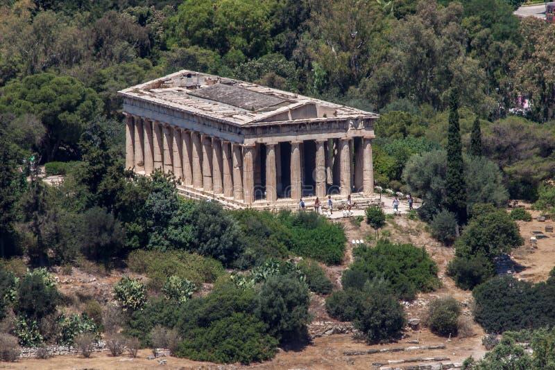 athens Greece hephaestus świątynia obrazy royalty free