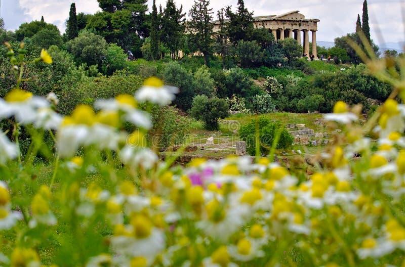athens Greece hephaestus ?wi?tynia zdjęcie stock