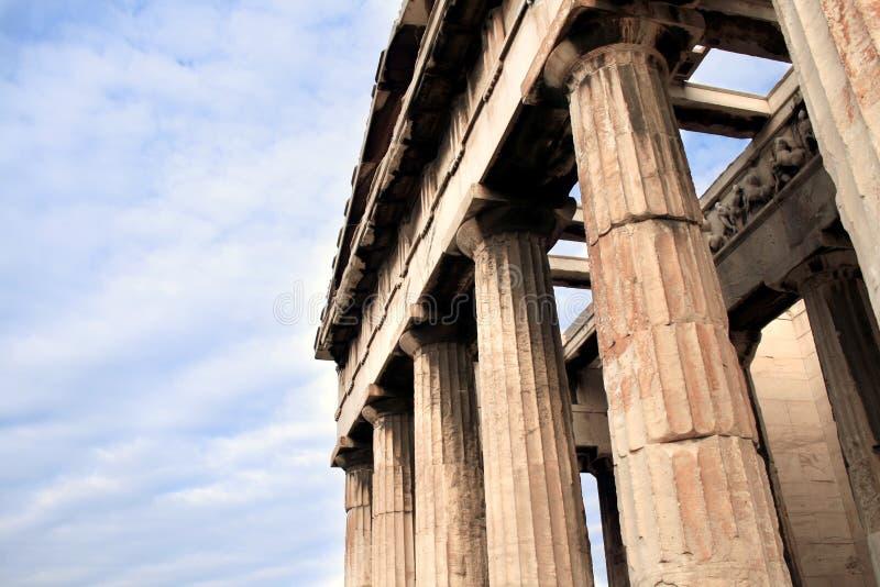 athens greece hephaestustempel fotografering för bildbyråer