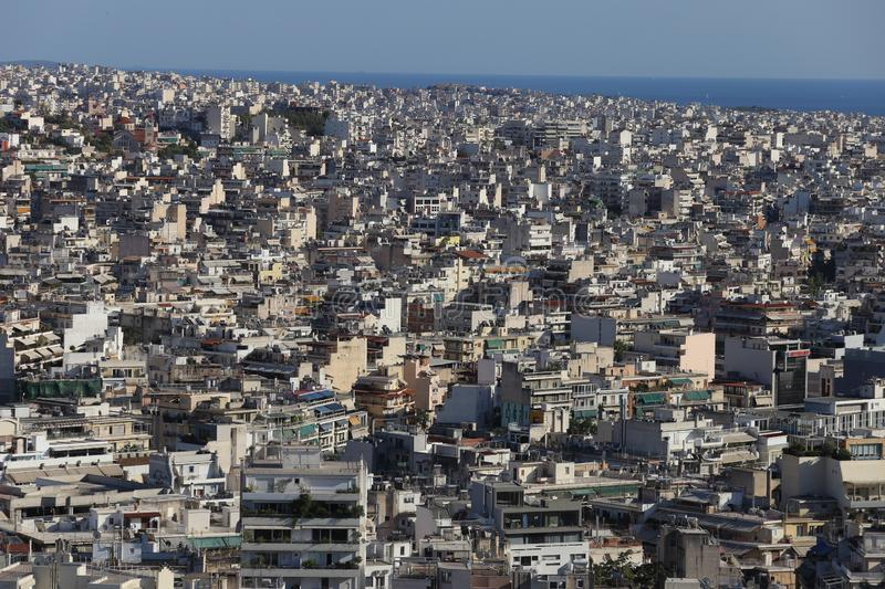 Athens, Greece - July 20, 2019: Panorama of the Greek capital seen from the Acropolis stock photos