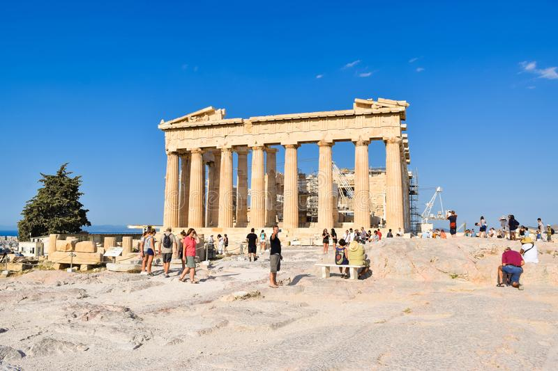 Ancient Greek temple Parthenon. stock photography