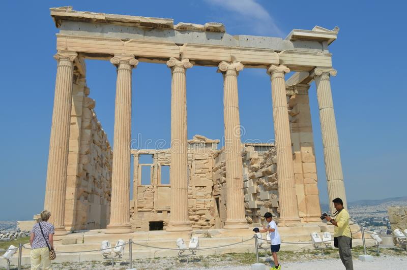 Old Temple of Athena, Acropolis in Athens, Greece on June 16, 2017. stock photo