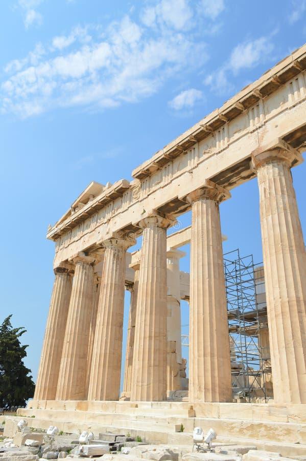 Parthenon temple in Acropolis in Athens, Greece on June 16, 2017. ATHENS, GREECE - JUNE 16: Parthenon temple in Acropolis in Athens, Greece on June 16, 2017 stock photography