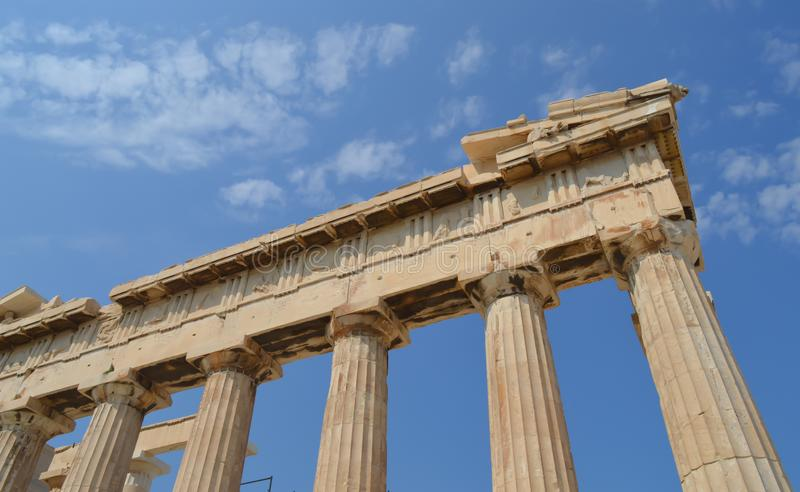 Parthenon temple in Acropolis in Athens, Greece on June 16, 2017. ATHENS, GREECE - JUNE 16: Parthenon temple in Acropolis in Athens, Greece on June 16, 2017 stock photos