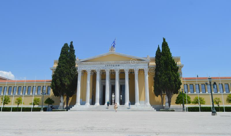 Zappeion in Athens, Greece on June 23, 2017. ATHENS, GREECE - JUNE 23: Zappeion in Athens, Greece on June 23, 2017 stock photo