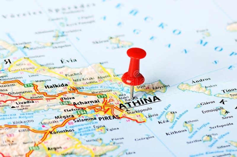 Athens Greece map stock image Image of tourism cartography 48477073