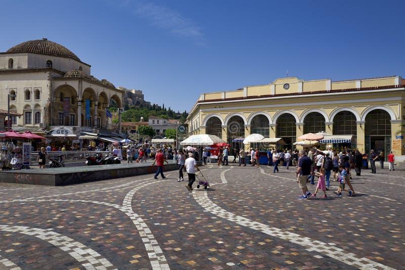 Athens Greece. Monastiraki square midday royalty free stock image