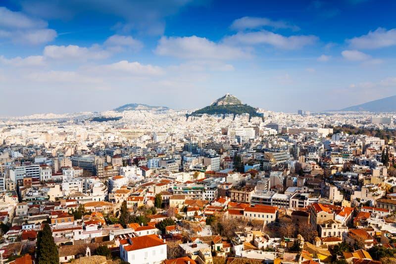 athens greece panorama arkivbild