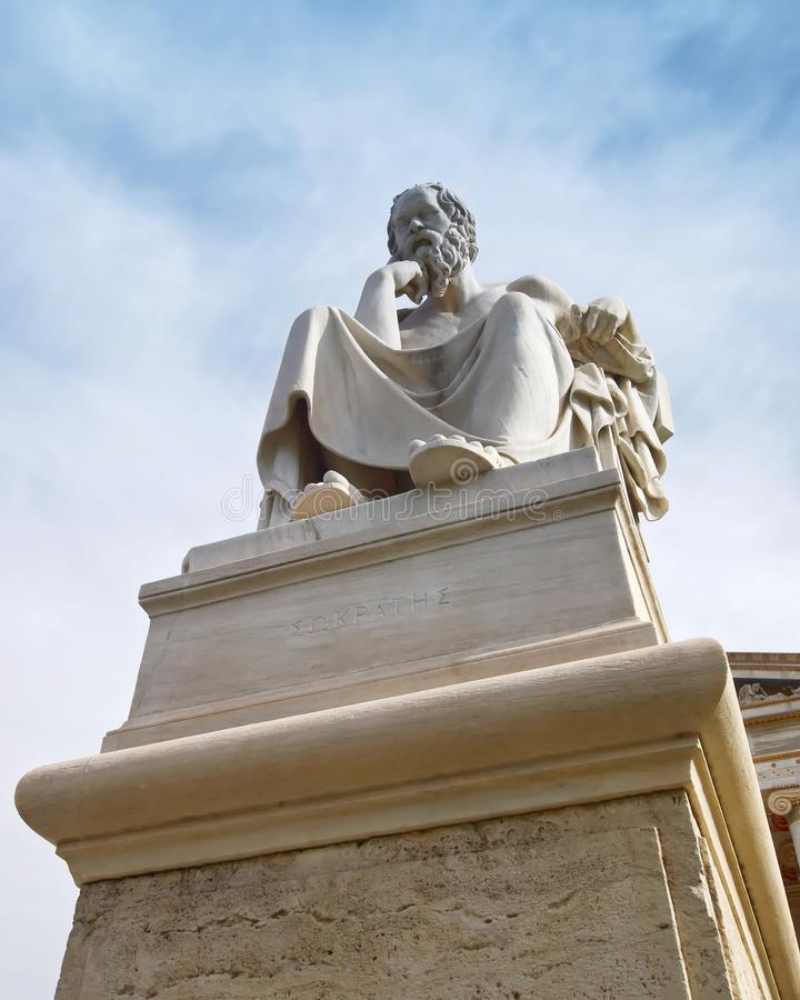 Athens Greece, Plato the philosopher statue stock image