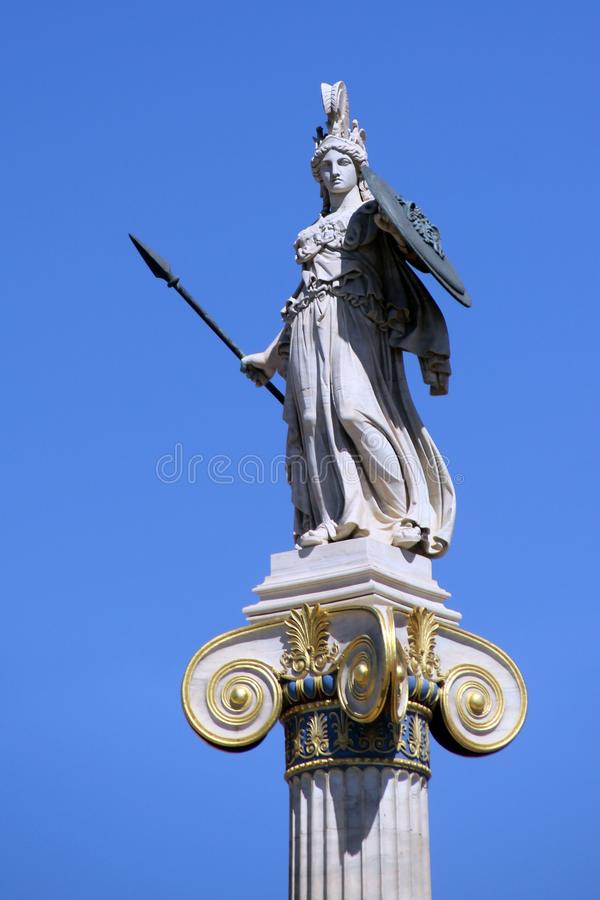Statue of the goddess Athena, Athens, Greece royalty free stock images