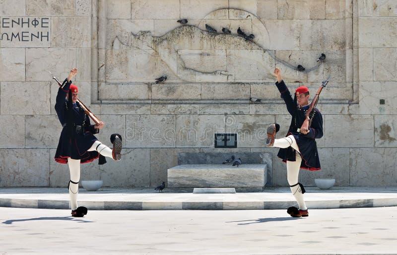 athens grekguards royaltyfri foto