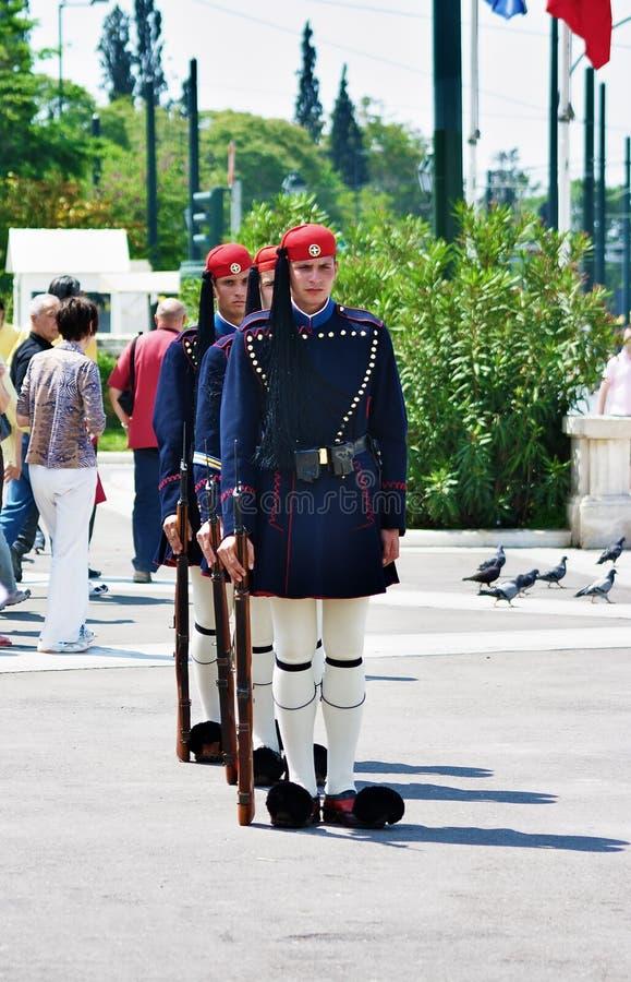 athens grekguards arkivfoto