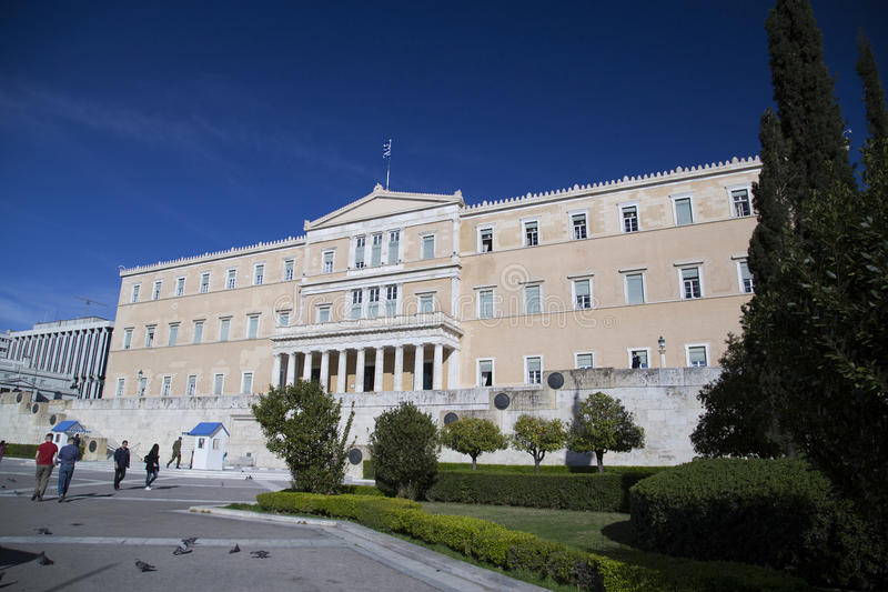 athens grekparlament arkivfoton