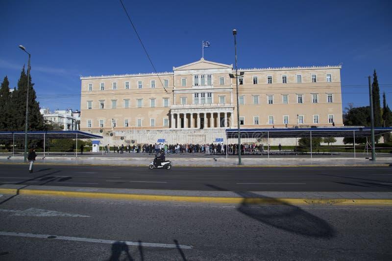 athens grekparlament royaltyfri fotografi