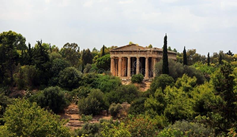 athens hephaestus świątynia obraz royalty free