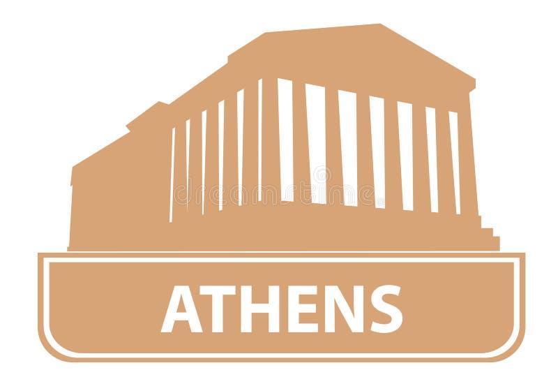 athens kontur ilustracji
