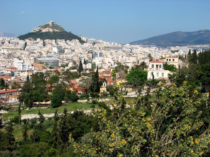 Athens landscape royalty free stock image