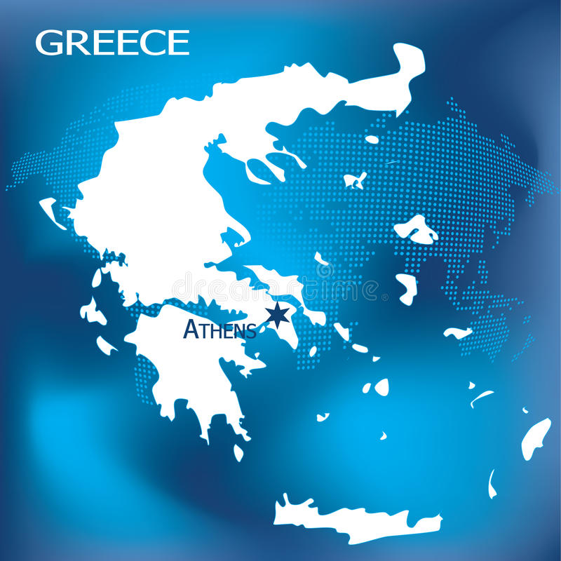 athens mapa Greece ilustracja wektor