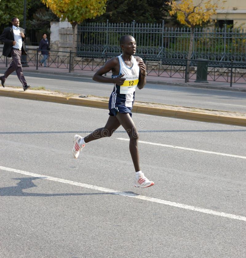 athens maraton 2008 arkivfoton